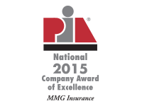 PIA National 2015 Company Award of Excellent - MMG Insurance