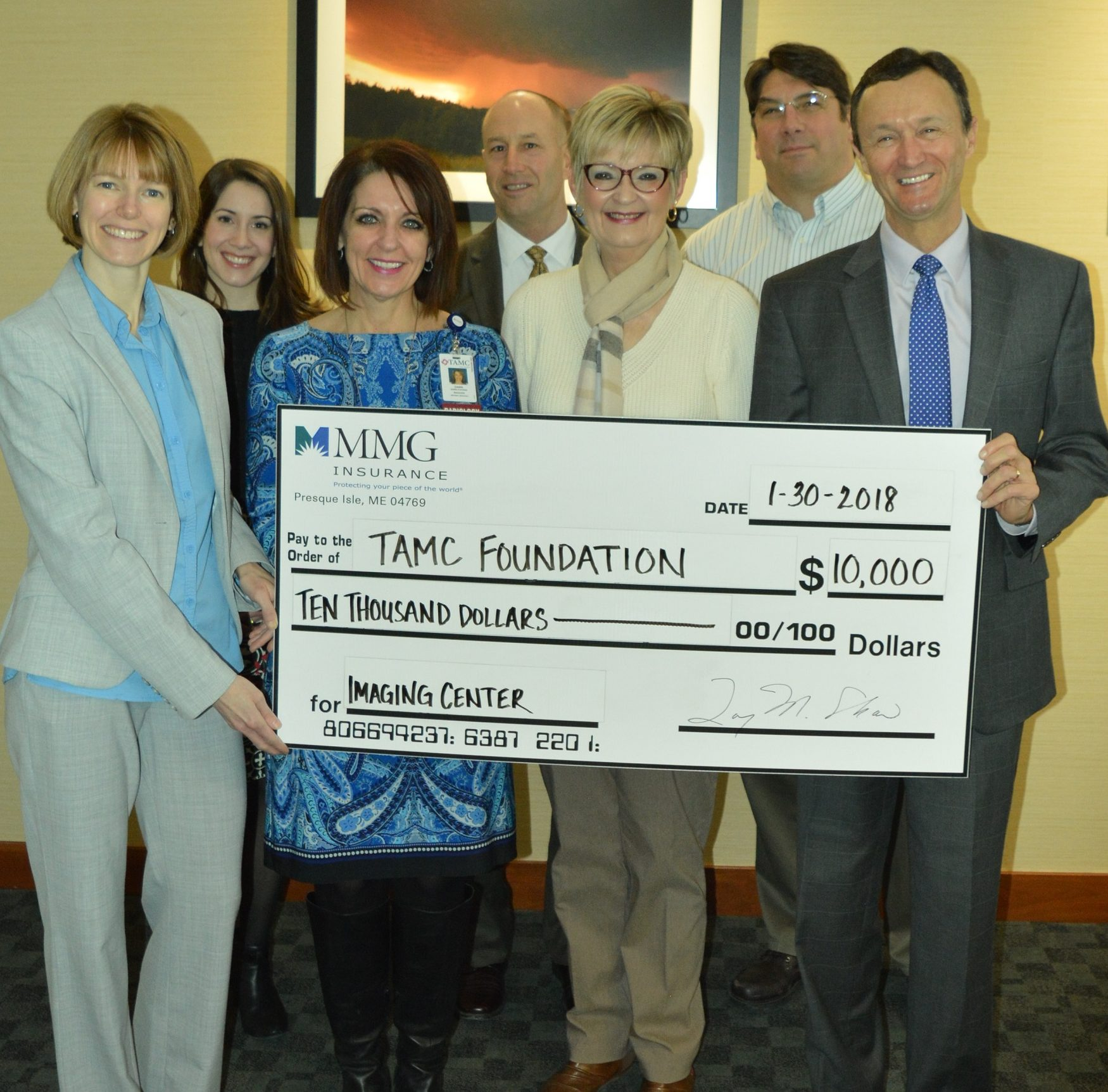 MMG Donates to TAMC Imaging Center
