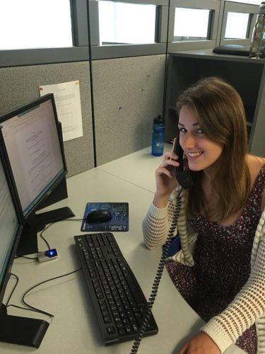 intern on the phone