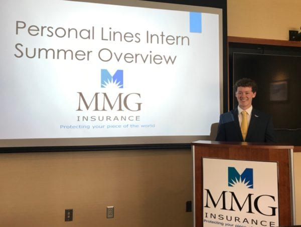 MMG intern giving presentation