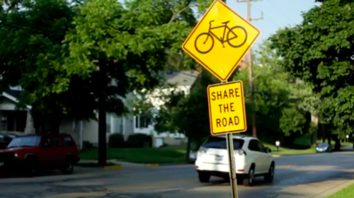 Share the Road traffic sign