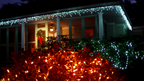 Holiday Decorations on house